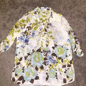 Coldwater Creek 2X(20/22W) Silk voile Tunic Shirt